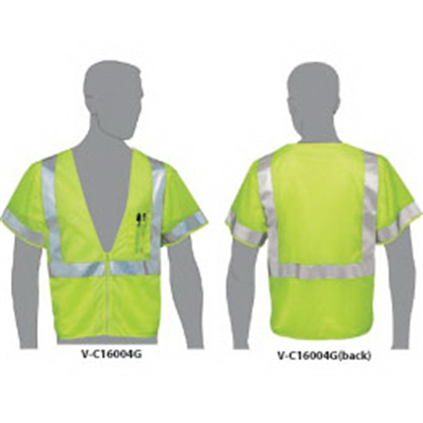 Class 3 Compliant Mesh Safety Vest with Sleeves