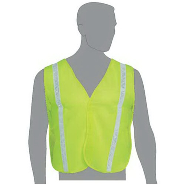 Mesh safety vest with stripes
