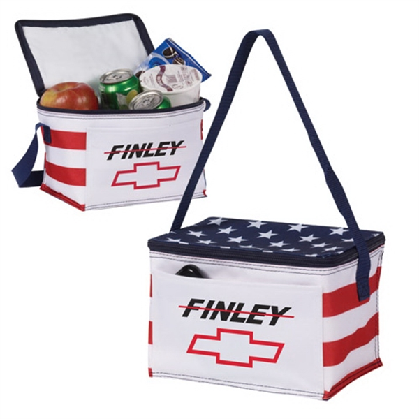 Classic Stars & Stripes 6 Pack Cooler