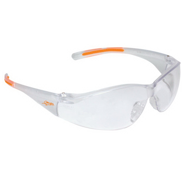 Lightweight Wrap-Around Safety Glasses with Nose Piece