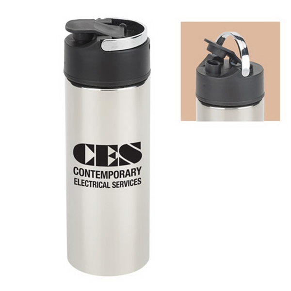 22 Oz Stainless Steel Bottle with Carrying Handle