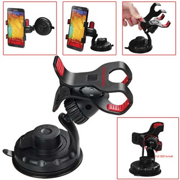 Clip Mobile Device Holder with Suction Cup Stand