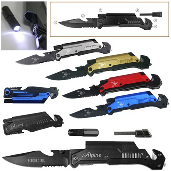 6-In-1 Multi-Function Emergency Rescue Knife