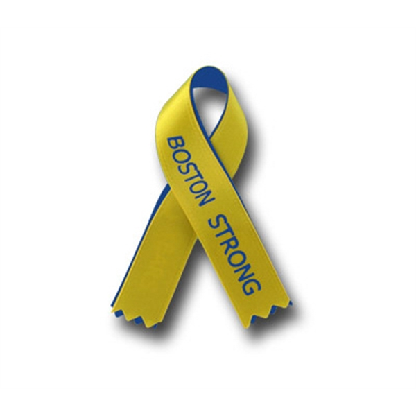 Custom printed awareness ribbons w/overlay