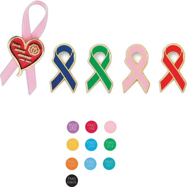 "Stock Design 1"" Awareness Ribbon Lapel Pin"