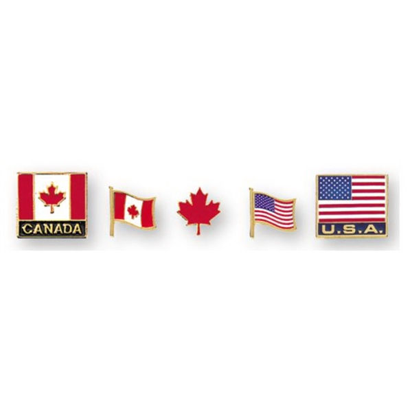 "Stock Design 5/8"" Canada Flag Lapel Pin"