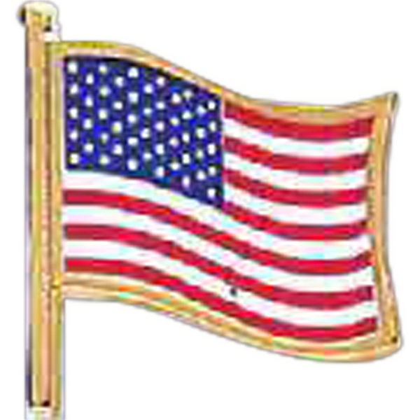 "Stock Design 5/8"" USA Flag Lapel Pin"