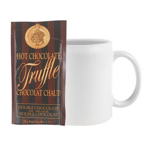 11 oz. Ceramic C-handle Classic Mug with Hot Chocolate Mix