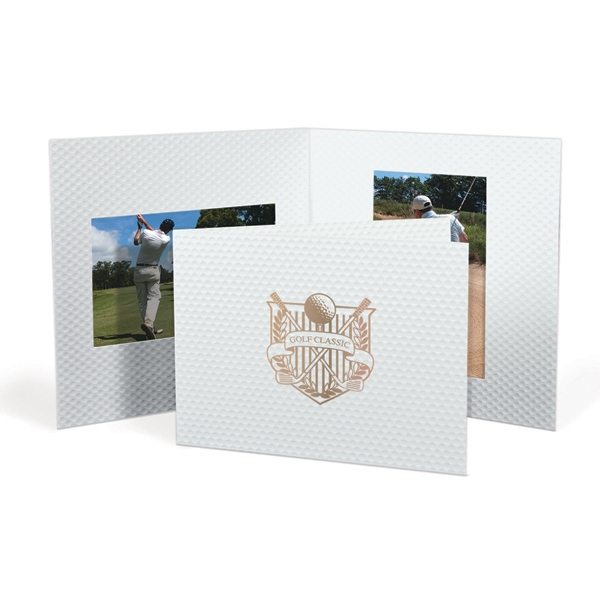 Golf Ball Texture Photo Folders - Dbl Opening