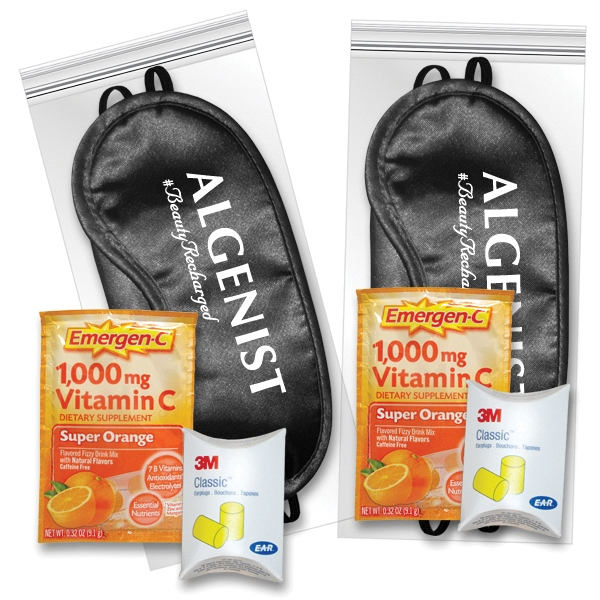 Sleep Eye Mask Recovery Kit in Black with Emergen-C (R)