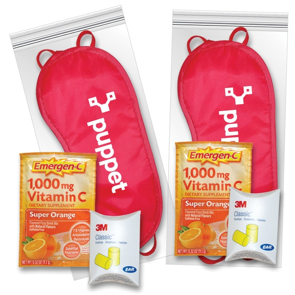 Sleep Eye Mask Recovery Kit in Red with Emergen-C (R)