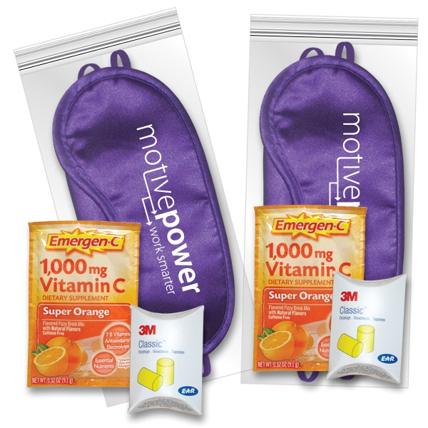 Sleep Eye Mask Recovery Kit in Purple with Emergen-C (R)