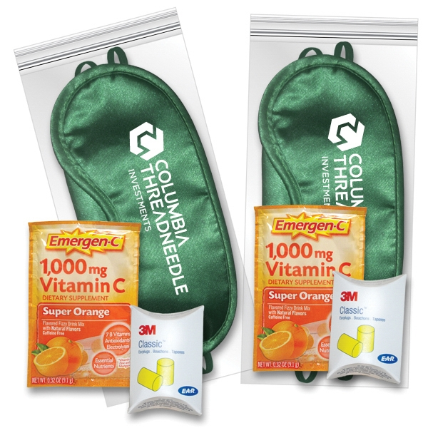 Sleep Eye Mask Recovery Kit in Green with Emergen-C (R)