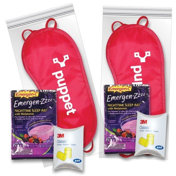 Sleep Eye Mask Recovery Kit in Red with Emergen-Zzzz (R)