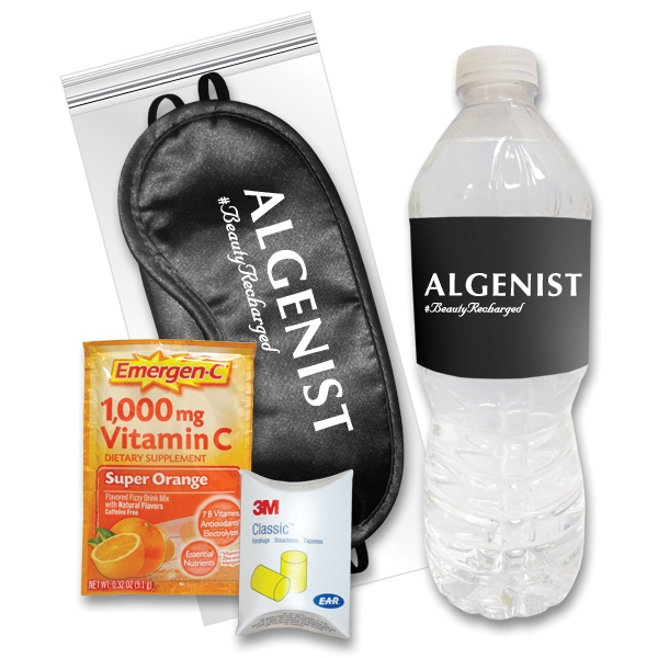 Sleep Eye Mask Recovery Kit in Black/Emergen-C (R) & Water