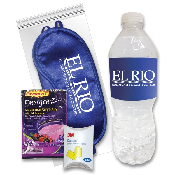 Sleep Eye Mask Recovery Kit in Royal/Emergen-Zzzz (R) &Water