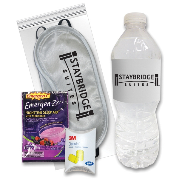 Sleep Eye Mask Recovery Kit - Silver/Emergen-Zzzz (R) &Water