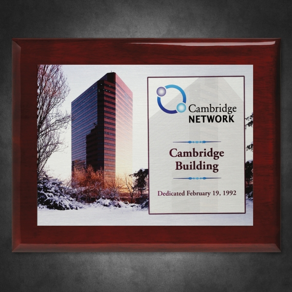 Aberdeen Rosewood Plaque 6 x 8 with Sublimated Plate