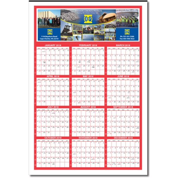 Custom Year on a page calendar (with week numbers)