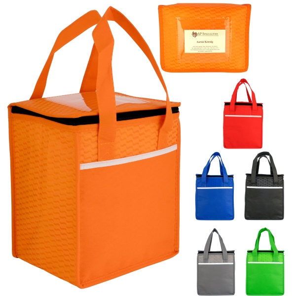 Rectangle Wave Lunch Tote-Blank