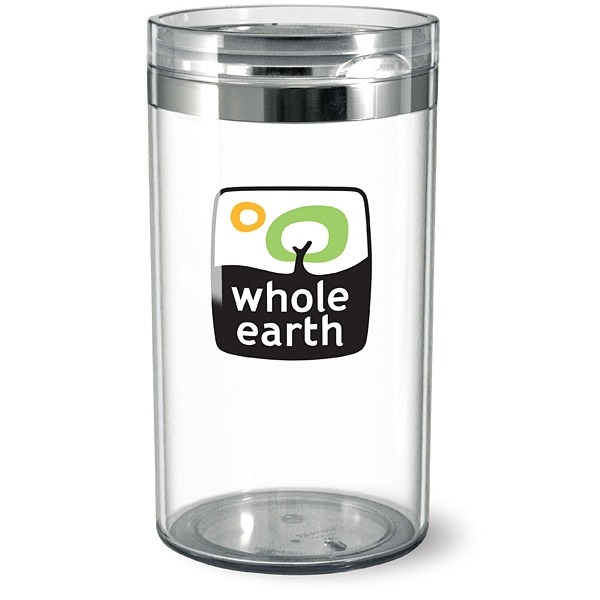 Circle canister with hinged lid