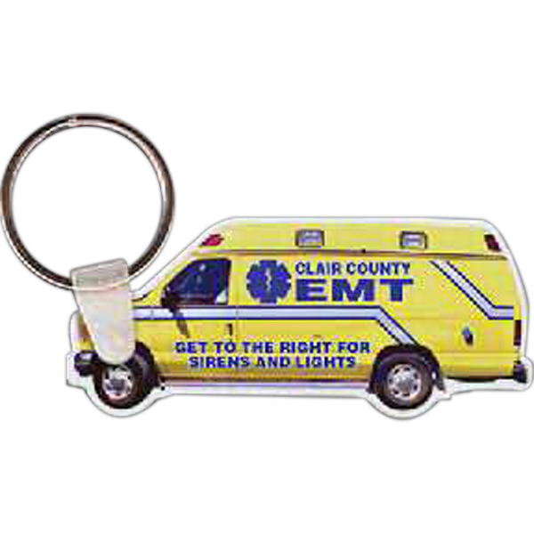 Personalized Ambulance Key Tag