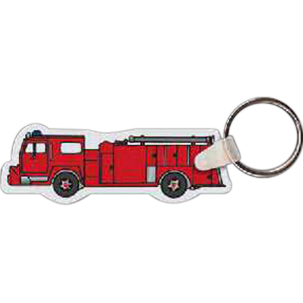 Promotional Fire Truck Key Tag