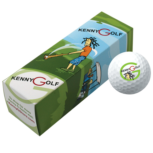 Printed Three Golf Ball Box Keny G