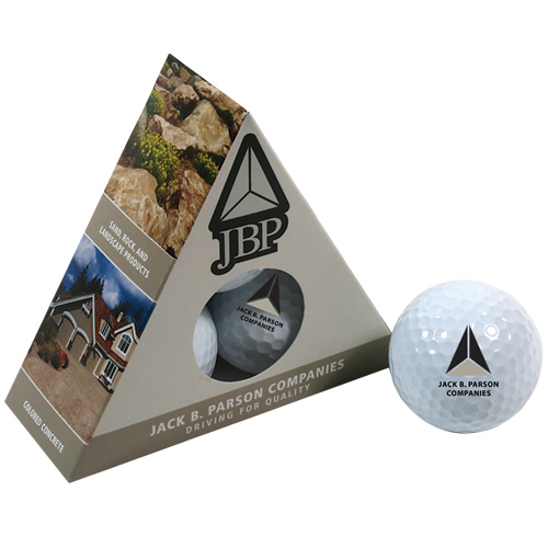 Customized Triangle Golf Ball Box JBP