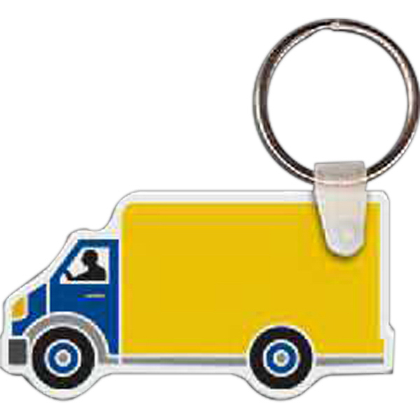 Imprinted Box Truck Key Tag