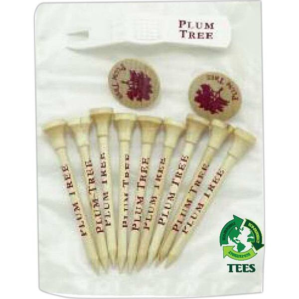 Promotional 2-Piece Tee, Marker, Push Divot Tool Packs