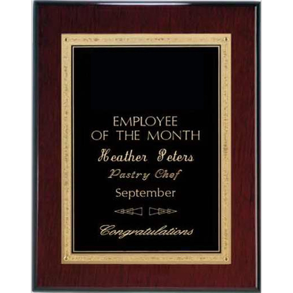 Printed Rosewood Piano Finish Plaque- Black Elegance