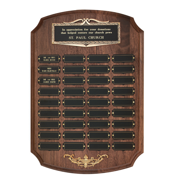 Custom Antique Bronze Frame Perpetual Plaque