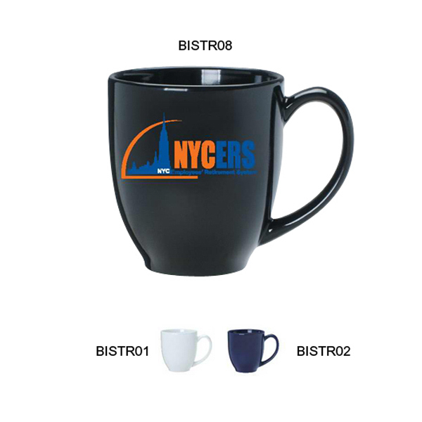 Personalized Ceramic Bistro Mug