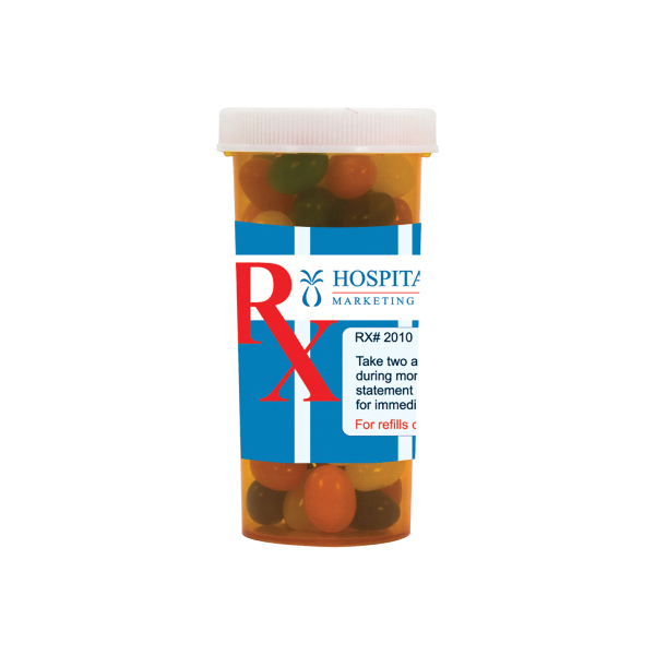 Large Pill Bottle with Jelly Beans