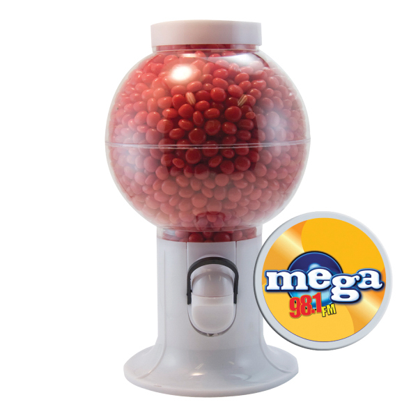 Gumball Machine with Cinnamon Red Hot Candy