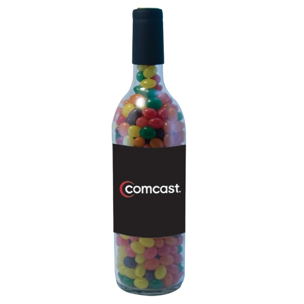 Wine Bottle with Jelly Bean Candy
