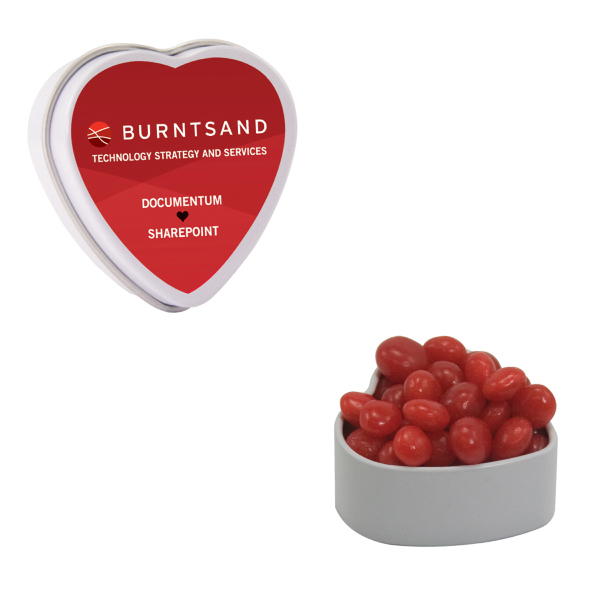 White Heart Tin with Cinnamon Red Hots - Valentines Day