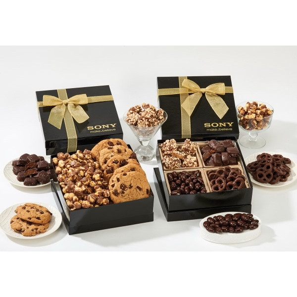 The Chairman Popcorn & Cookie Food Gift Box - Caramel