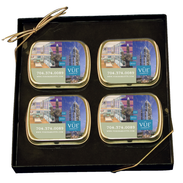 Customized Mint Tin Gift Set with Peppermints