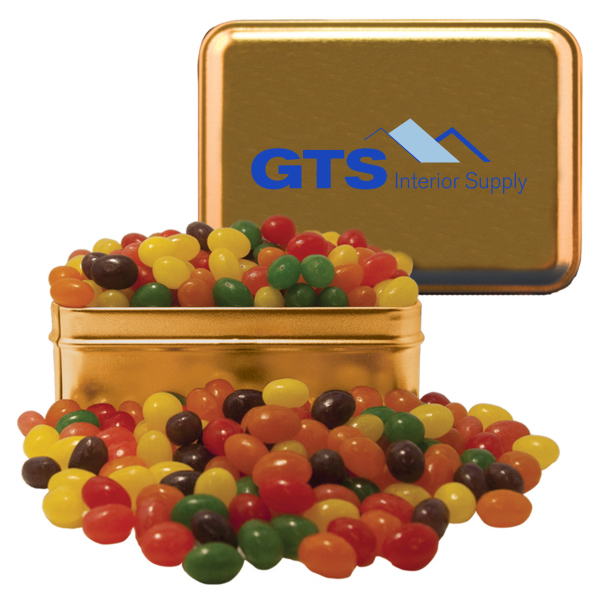 Rectangle Tin with Jelly Beans - Candy