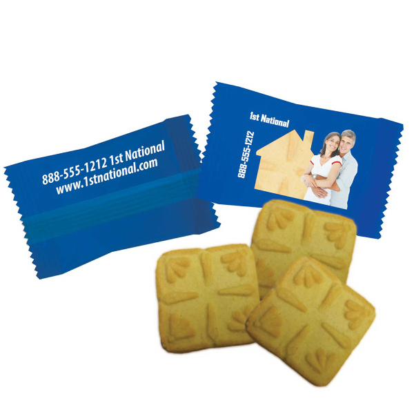 Custom Individually Wrapped Shortbread Cookie or Cookies