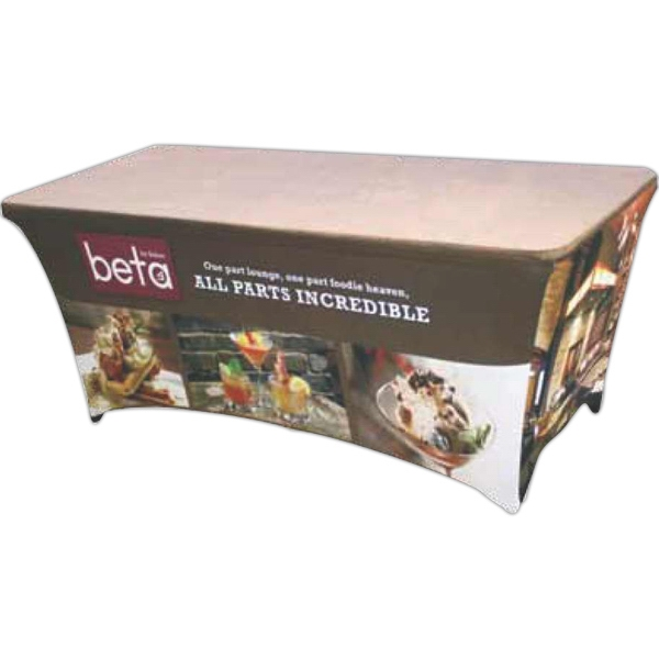All Panels Digitally Printed Contoured Table Banner