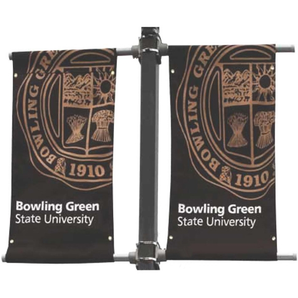 Sunbrella Double-Sided Two Color Canvas Street Banner