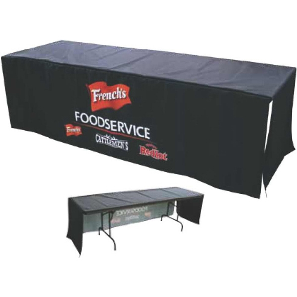 7' Front Panel Dye Sublimated Poplin Table Banner