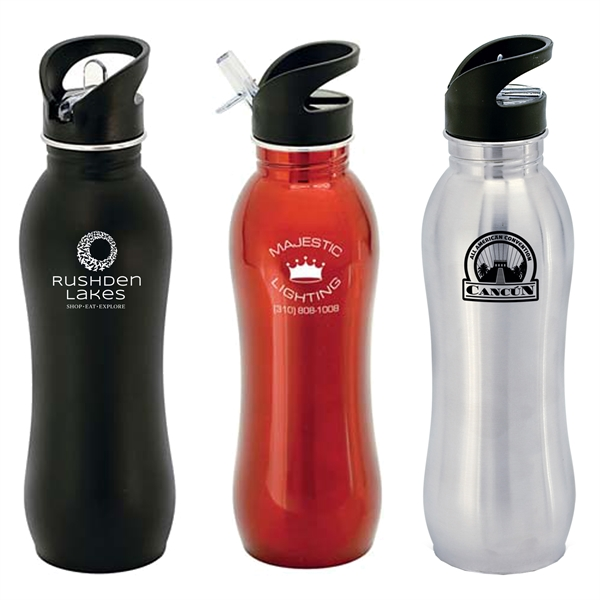 Radix 24 oz. Curvy Stainless Steel Sipper Bottle