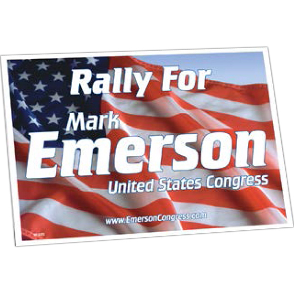 Printed Rally Sign