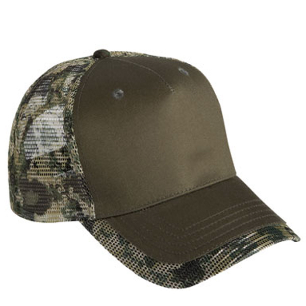 Cobra Five Panel Camo Mesh Visor Cap