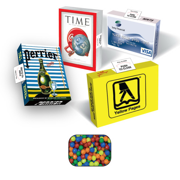 Eco Friendly Advertising Mint/Candy/Gum Box with Mini-Tarts