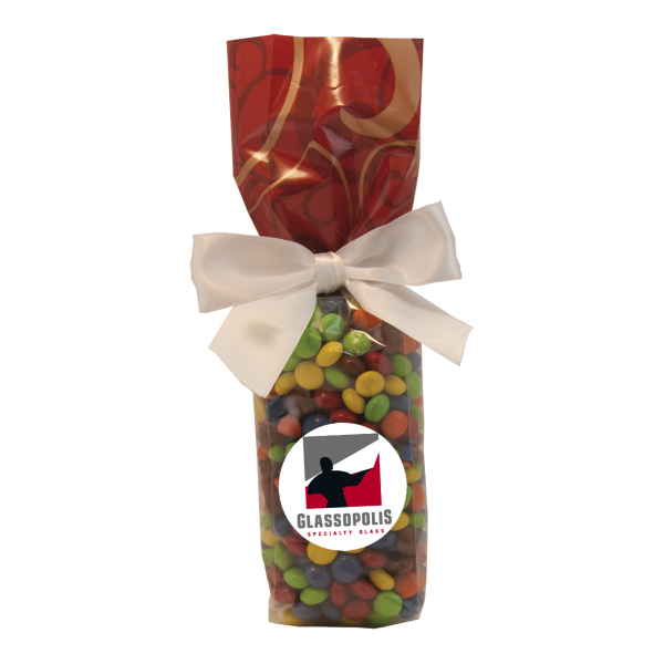 Mug Stuffer Gift Bag with M&M type Chocolate Littles Candy